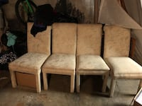 two brown wooden framed white padded chairs Salem, 24153