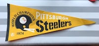 vintage Pittsburgh Steelers 1974 World Champions NFL pennant flag Middletown, 10940