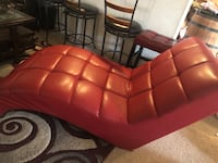 Red leather chaise lounges chair Omaha, 68122