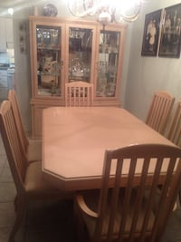 Rectangular brown wooden dining table set dining room set two-year-old thousand dollars or best offer  [TL_HIDDEN]   Joe Richmond Hill, L4C 2N8