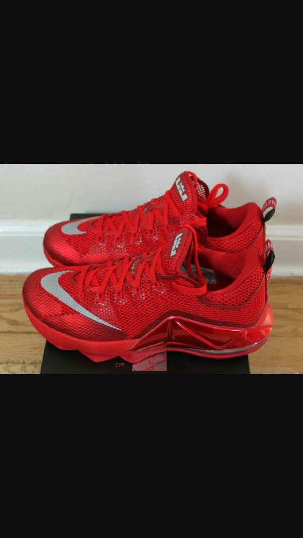 Used Lebron 12 Low Red Size 9 for sale in Seattle - letgo 8efae3da7