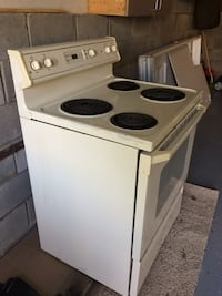 Used White Electric Coil Range Stove For Sale In