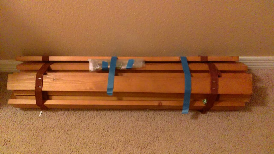 twin bed - incomplete project piece  - Seven Springs