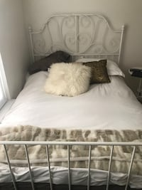 Full size mattress and bed frame!  Ashburn, 20147