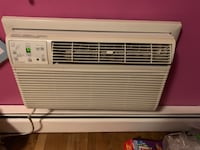 Frigidaire through the wall air conditioner (not a window unit) 12,000BTU 208/230 volt, has remote control, trim kit, rear grill. Works very well. Filter is in good condition. New York, 10475