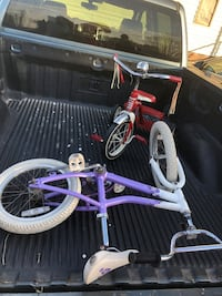 Purple bike and red tricycle noth got to go TODAY