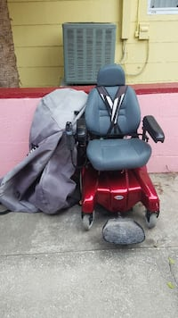 red and black electric wheelchair