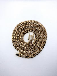 gold chain link necklace with pendant Washington, 20024
