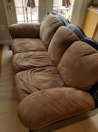 brown fabric 3-seat recliner sofa LEESBURG