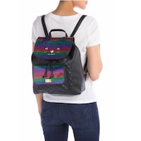 Betsey Johnson Luv Betsey By Marli Kitsch Quilted Drawstring Backpack