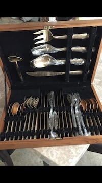 Grey stainless steel cutlery set with case Woodbridge, 22191