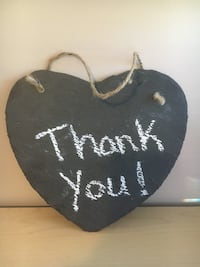 heart shaped hanging chalkboard