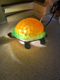 Brass and glass turtle lamp Courtice, L1E 2S2