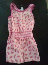 pink and white floral sleeveless dress Anderson, 96007