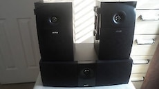 Energy eXL-C1 Center Channel Speaker and 2 e;xl-rib-1 dipole surrounds