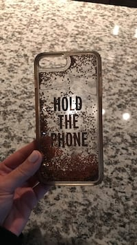 clear hold the phone printed floating glitter iPhone case Charlotte, 28277