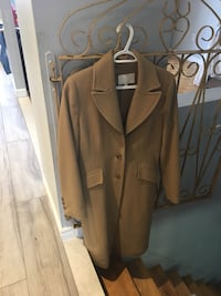 Brown button up coat