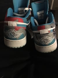 Pair of white-and-blue nike sneakers originally 130.00 worn once , willing to take 60-80 for them! Ottawa, K1S 5J6