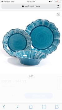 Pioneer Women's Dishes -Color is Denim but looks like a light teal.  Murfreesboro, 37129