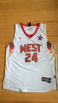 Orange white and gold Kobe all star jersey