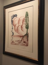 """Original Salvador Dali Lithograph. """"Colibri Atomo"""" limited edition 60/300, pencil signed and numbered. Overall frame size is 41 1/2""""x 34 1/2"""". This is for cash transaction only Olathe, 66061"""