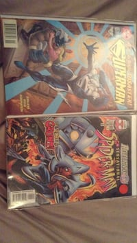 two Superman and Spider-Man comic books Kitchener, N2R 1X6