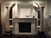 Hand Carved Wooden Tusks