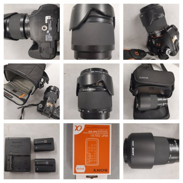 Sony camera and lenses