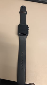 space black aluminum case Apple Watch with black sports band