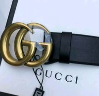 brown leather Gucci belt with gold buckle Toronto, M9W 2X3