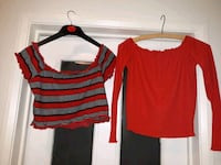 two red and black scoop-neck shirts Rawmarsh, S62 7NE