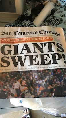 Giants sweep news letter