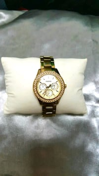 Fossil chronograph gold watch Baton Rouge