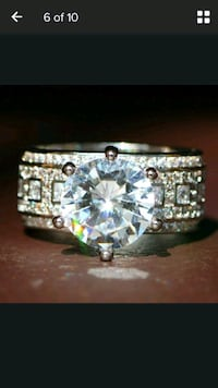 Sterling silver engagement ring size 6/9.5