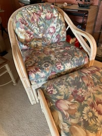 2 Cane Chairs with matching footrests. Randallstown, 21133