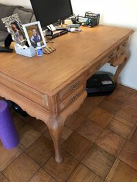 French provincial pine writing desk w/5 drawers Chevy Chase, 20815