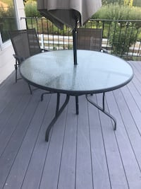 Glass table with three chairs  Sherwood, 97140