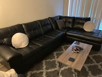 2 piece leather sectional . 3 months old. Deploying soon need gone.