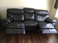 Black Faux Leather Couch and Chair Greencastle, 17225