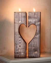 Hand crafted rustic heart shaped candle holder.  Great for Valentines! Newmarket, L3Y 2V3
