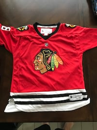 Red and white jersey shirt youth Patrick kane McHenry, 60050