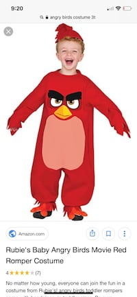 Angry birds costume Stafford, 22554