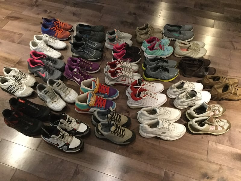 26 pairs of brand shoes Nike, puma, Reebok, Skechers, adidas,... 2
