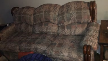 Couch and love seat for free