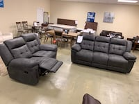 Each fabric recliner sofa OR recliner loveseat new hot sale  Jacksonville, 32216