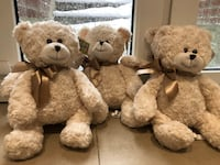 two white and brown bear plush toys Toronto, M6J 2W8