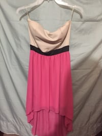 women's pink and beige strapless dress TORONTO