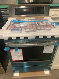 Brand new lg electric stove stainless steel working perfectly
