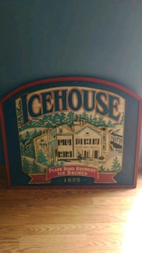 Icehouse wooden sign Easton, 18045