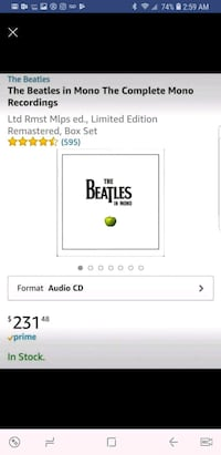 The Beatles in Mono collection set  Independence, 64057